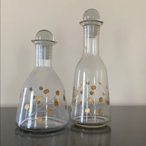 Duo of Decorative Glass Bottles